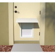 PlexiDor awning, white