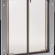 Large silver PlexiDor dog door