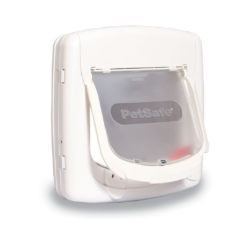 This Pet Safe 4-way locking door is great controlling your cat's foot traffic around the home.