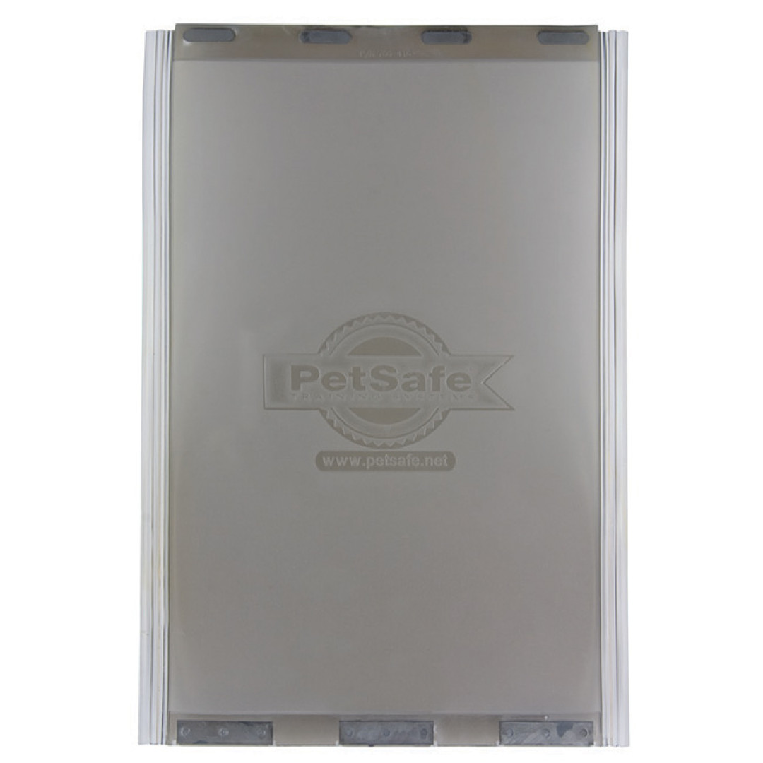 This replacement flap is for the Classic Pet Door, Deluxe Patio Panel Door, Wall Entry Aluminum Pet Door size Large.